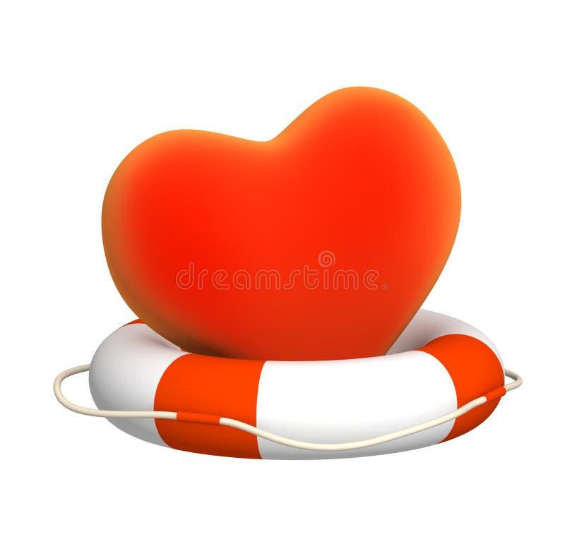 Aide au coeur illustration de vecteur