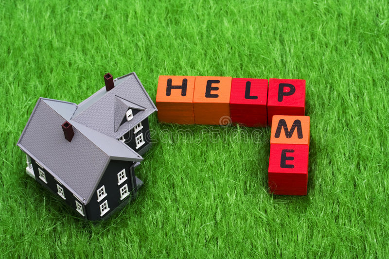 Aide d'hypothèque photo libre de droits