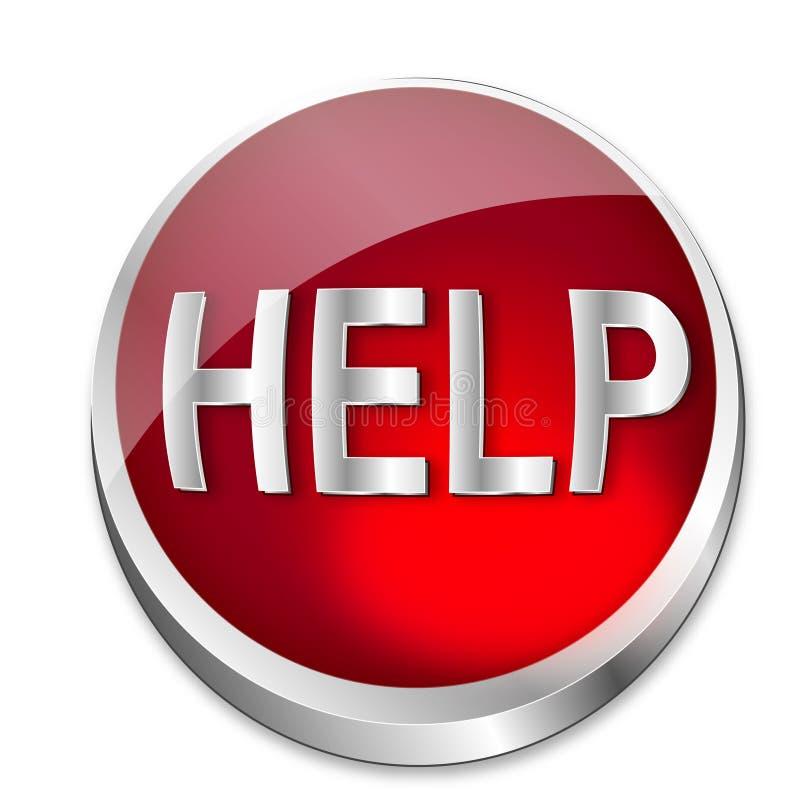 aide de bouton illustration libre de droits