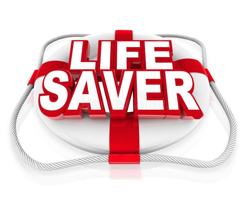 Aide de conservateur de maître nageur dans le moment de la crise ou du danger illustration de vecteur