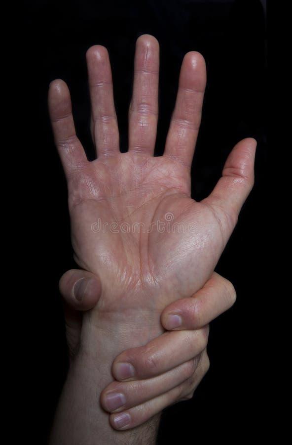 Aide de recherche de main, danger/concept d'aide photographie stock