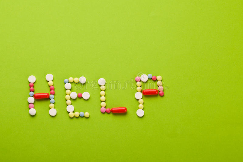 Aide des vitamines photo libre de droits