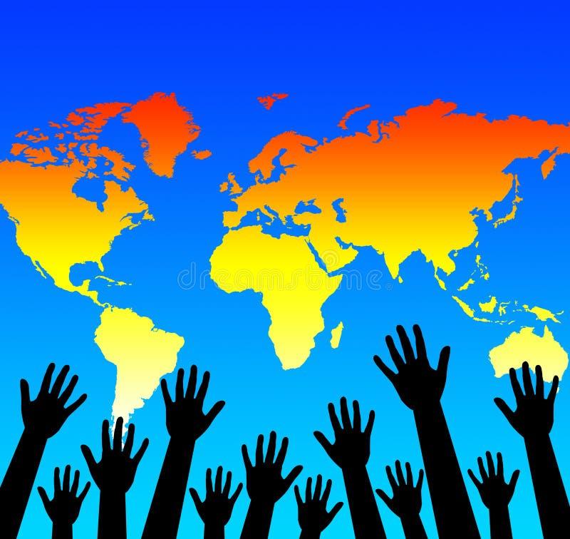 Aide du monde illustration libre de droits