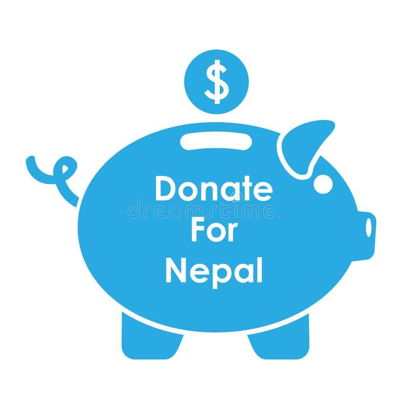 Aide du tremblement de terre 2015 du Népal illustration de vecteur