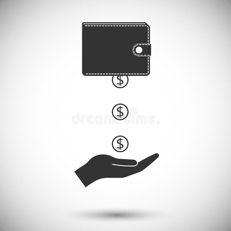 Aide financière illustration stock