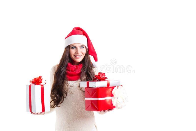 Aide gaie de Santa photo libre de droits