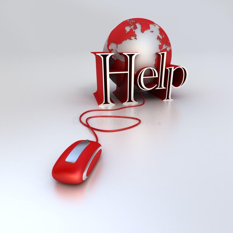 Aide globale illustration de vecteur