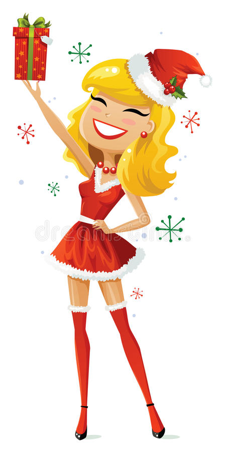 Aide heureux de Santa illustration stock