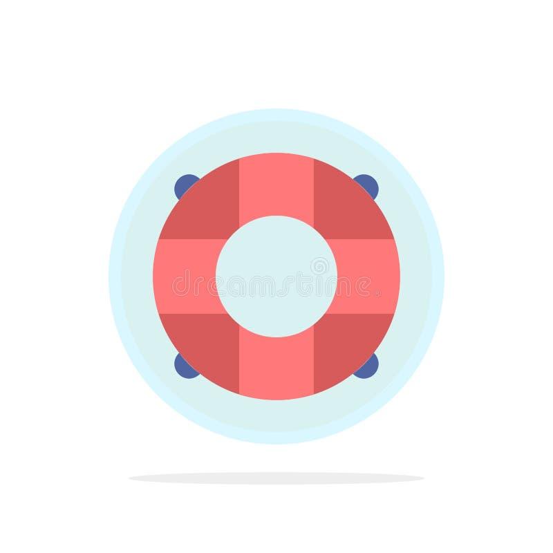Aide, la vie, bouée de sauvetage, sauveteur, vecteur plat d'icône de couleur de conservateur illustration libre de droits