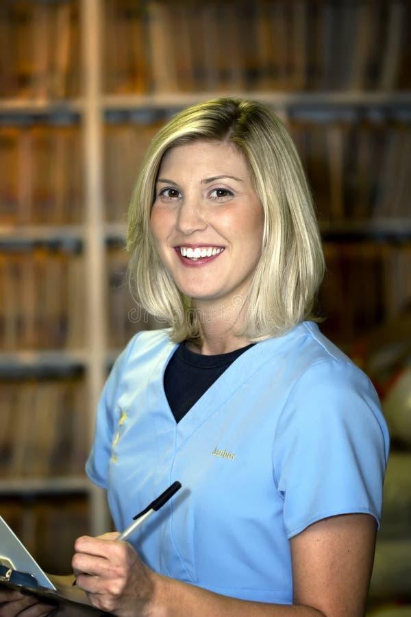 Aide médical féminin photo stock
