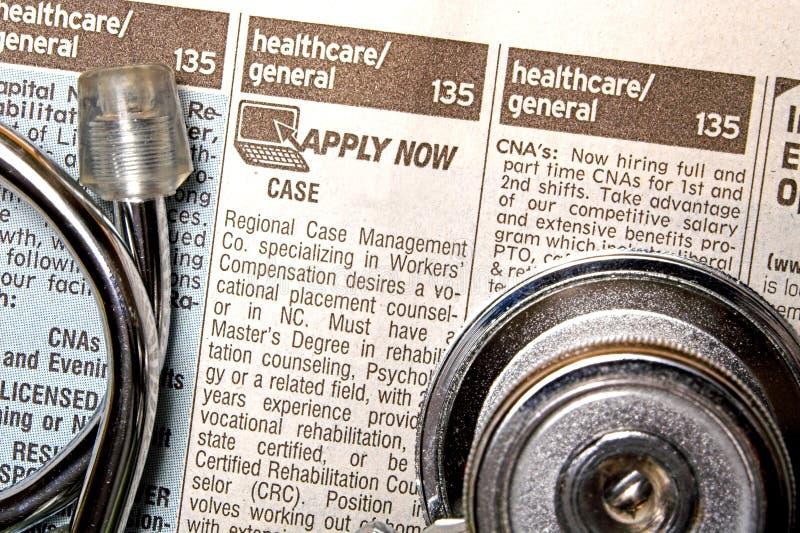 Aide médicale voulue image stock