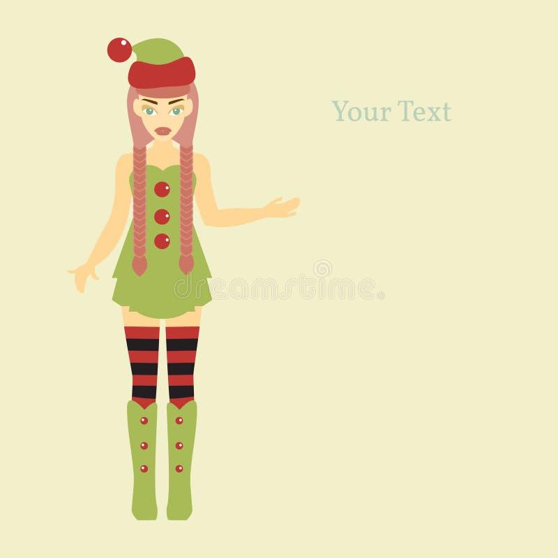 Aide mignonne de Santa illustration stock