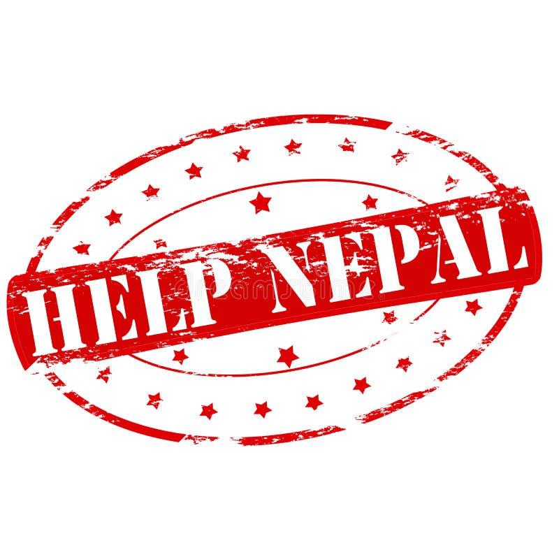Aide Népal illustration libre de droits