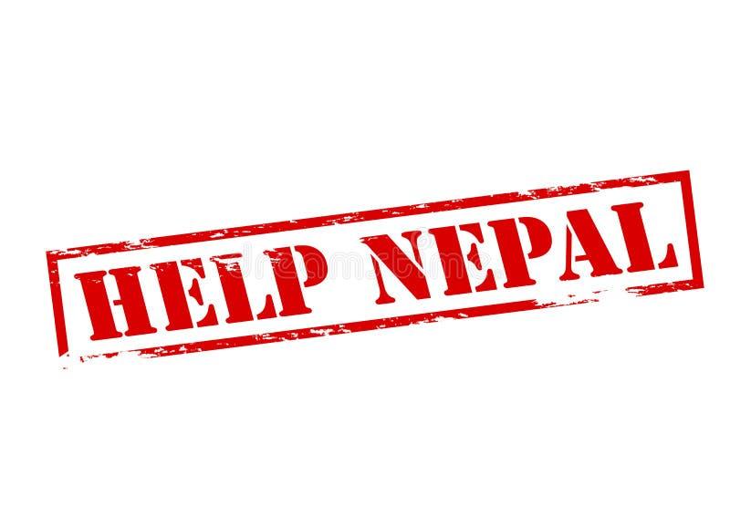 Aide Népal illustration stock