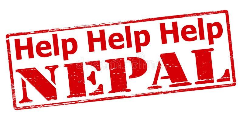 Aide Népal illustration de vecteur
