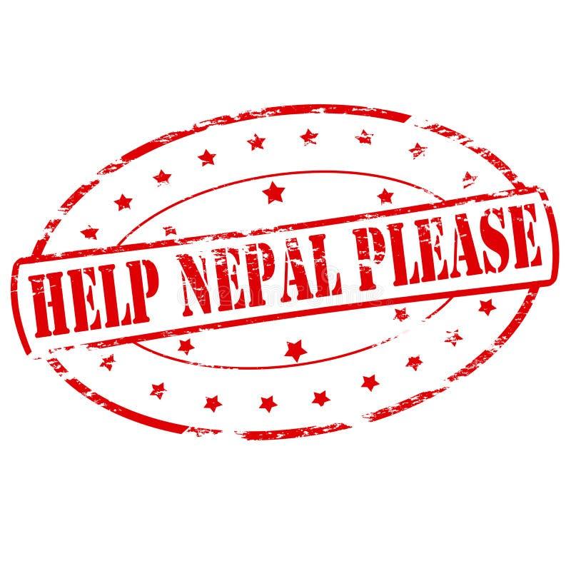 Aide Népal svp illustration stock
