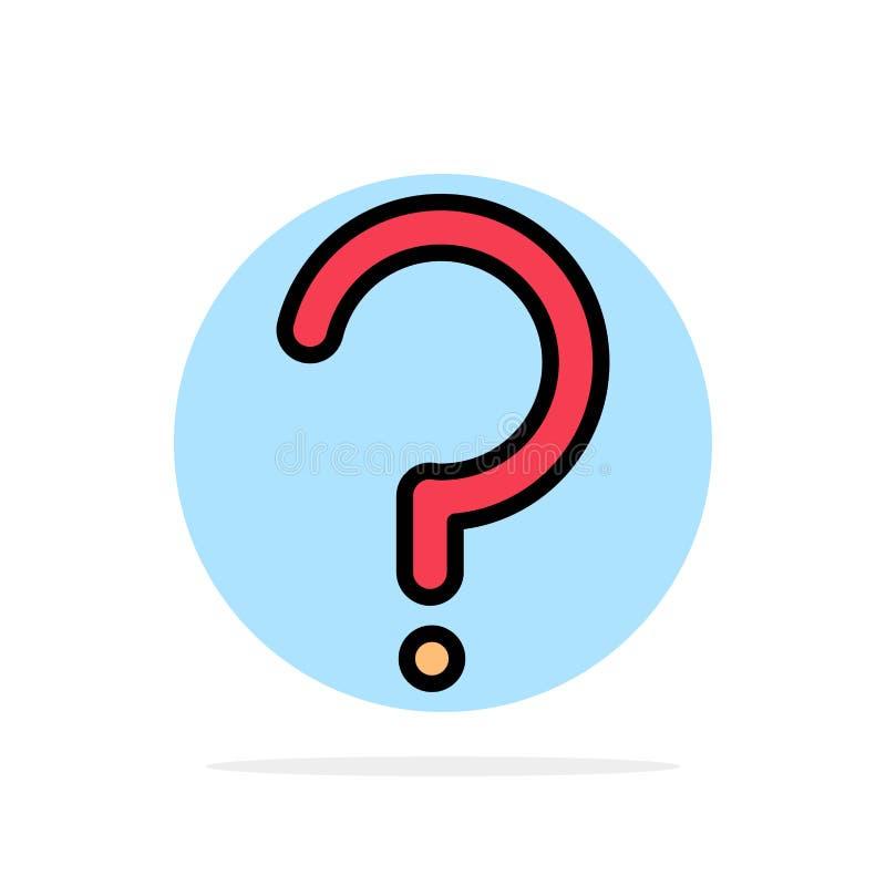 Aide, question, point d'interrogation, icône de couleur de Mark Abstract Circle Background Flat illustration de vecteur