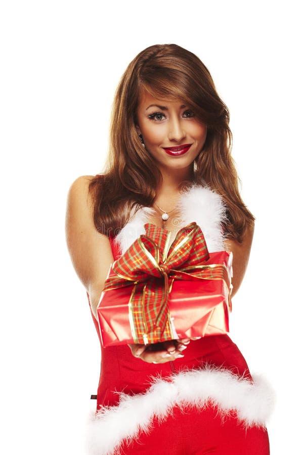 Aide sexy de Santa image libre de droits