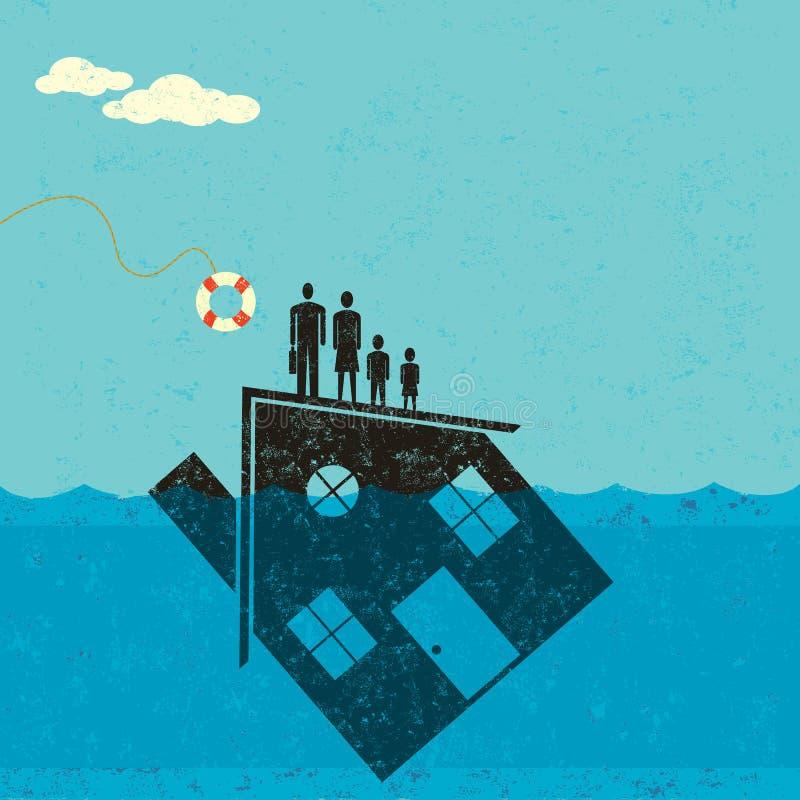 Aide sous-marine d'hypothèque illustration stock