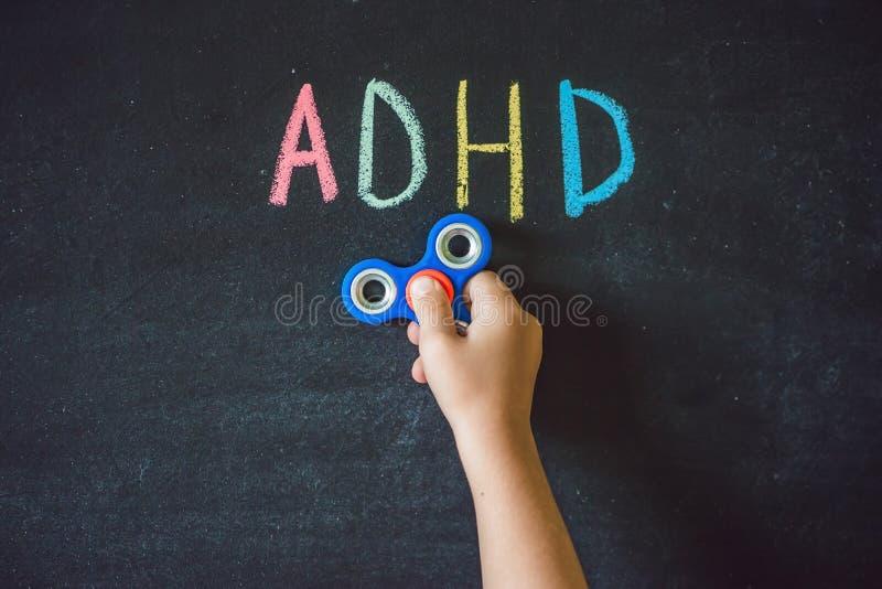 Aides de fileur avec le syndrome d'ADHD ADHD est exagération de déficit d'attention images stock