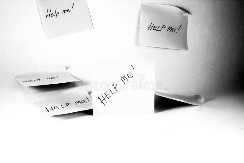 Aidez-moi ! photographie stock