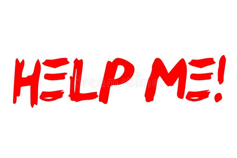 Aidez-moi timbre typographique illustration stock