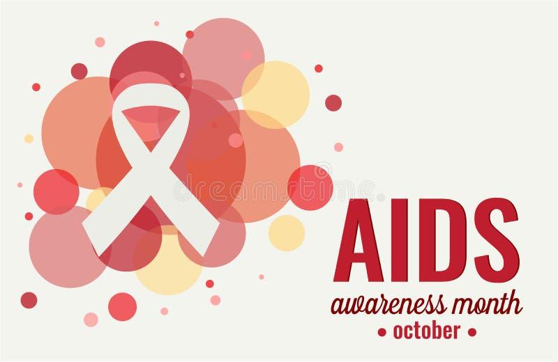 Aids awareness month. Card or background. vector illustration vector illustration