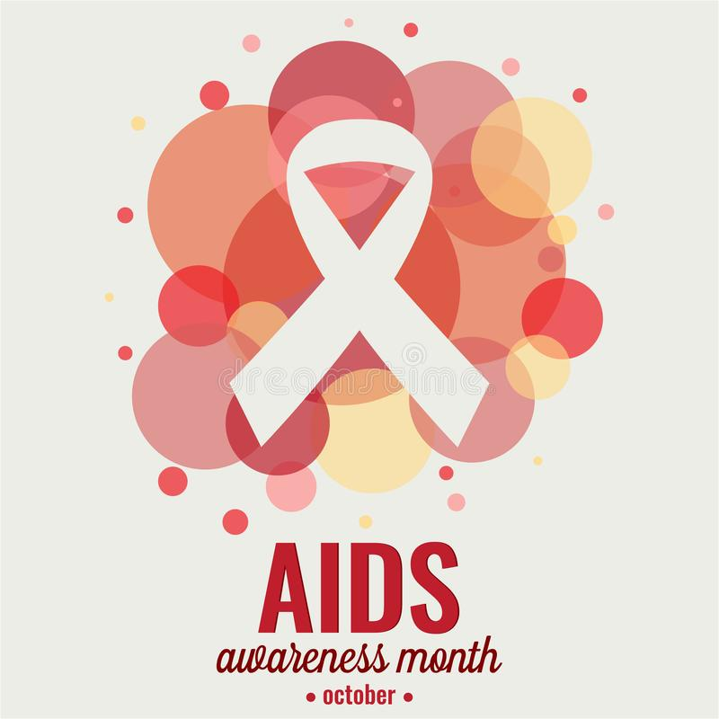 Aids awareness month. Card or background. vector illustration royalty free illustration