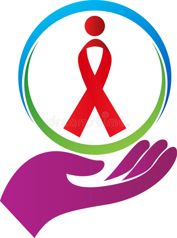 Aids awareness. A vector drawing represents aids awareness design stock illustration