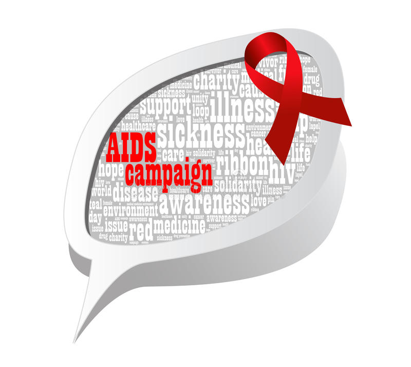 Aids campaign. Info-text graphics and arrangement concept on white background royalty free illustration