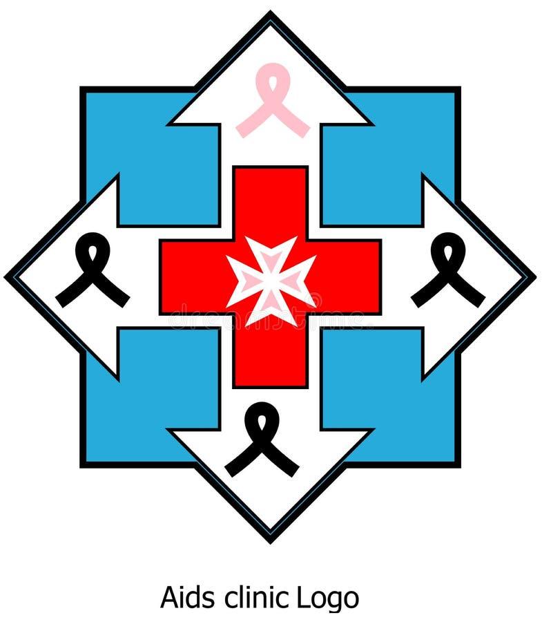 Aids clinic logo stock photo