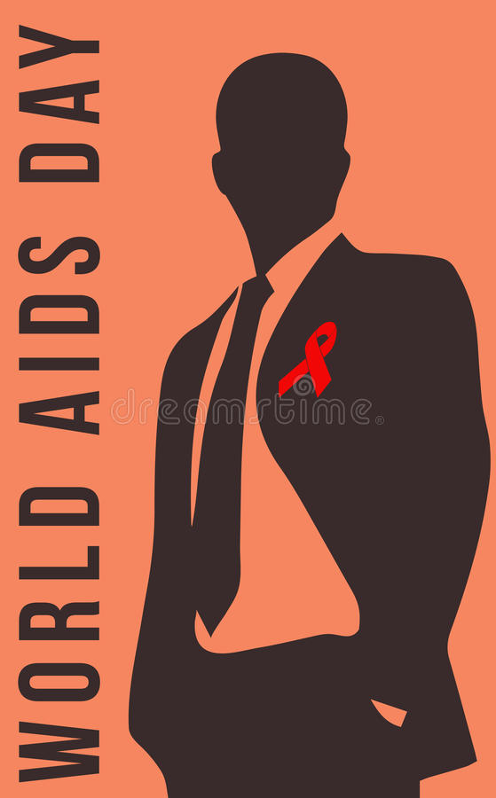 AIDS Day, and Memorial. World AIDS Day and Memorial stock illustration
