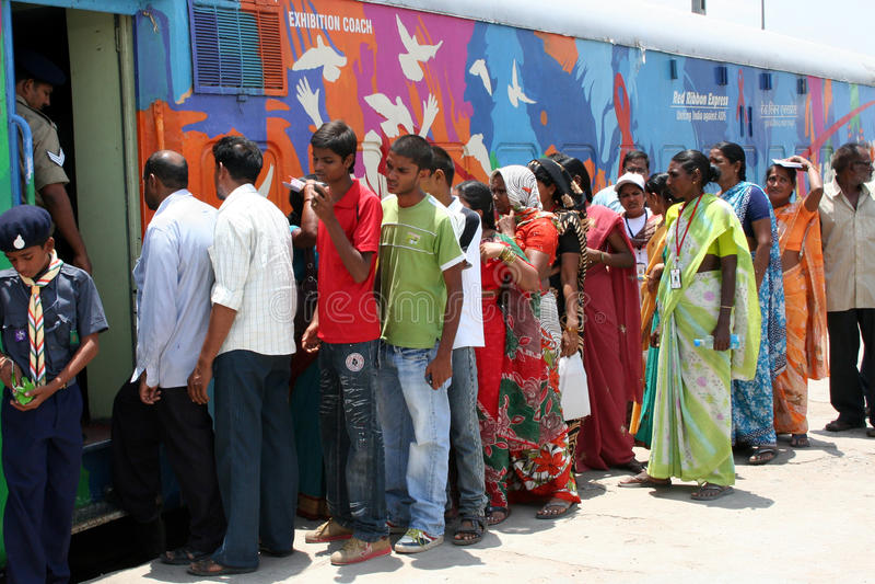 AIDS/HIV了悟竞选印度 免版税库存照片