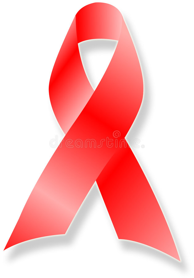 AIDS/HIV Awareness Ribbon. Illustration of a Red Ribbon signifying support for AIDS/HIV awareness vector illustration