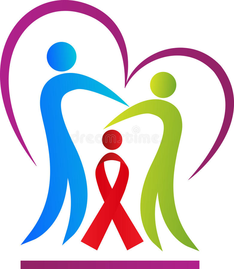 Aids people care. A vector drawing represents aids people care design royalty free illustration