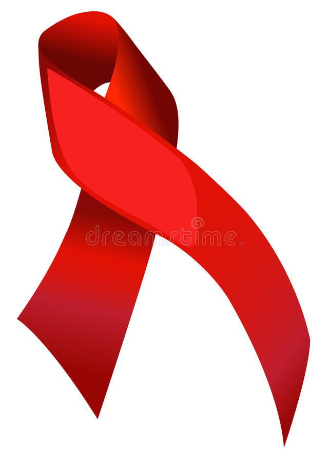 Aids Ribbon. Illustration of AIDS Awareness Ribbon vector illustration