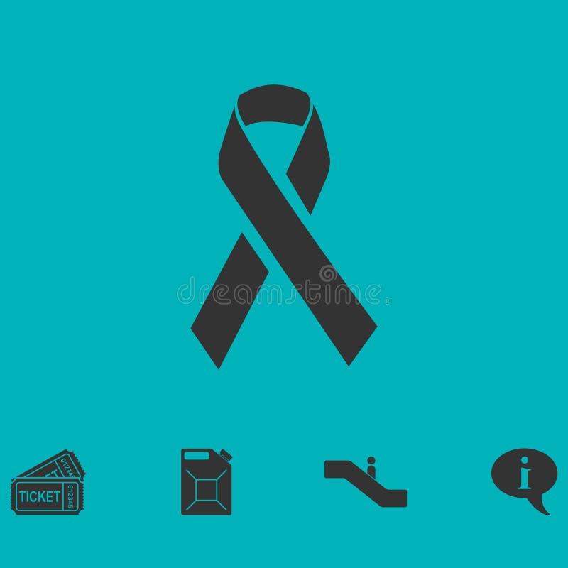 AIDS-vlak pictogram royalty-vrije illustratie