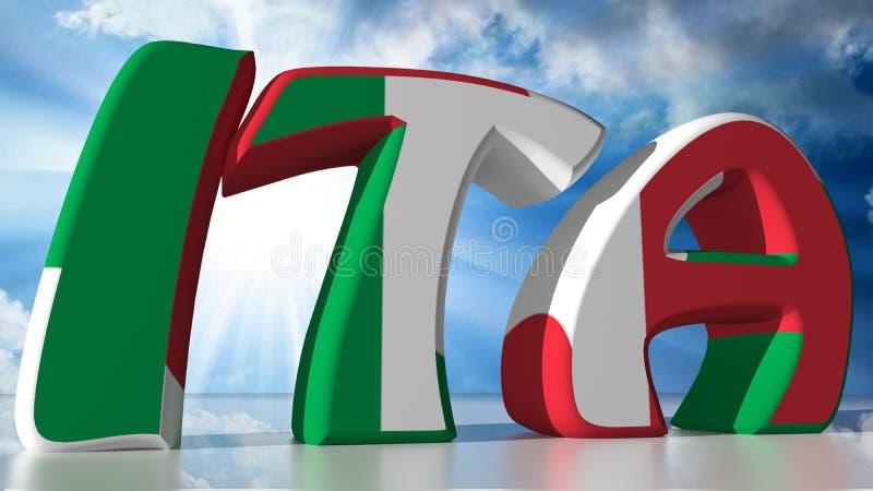 AIE: Itália ilustração do vetor