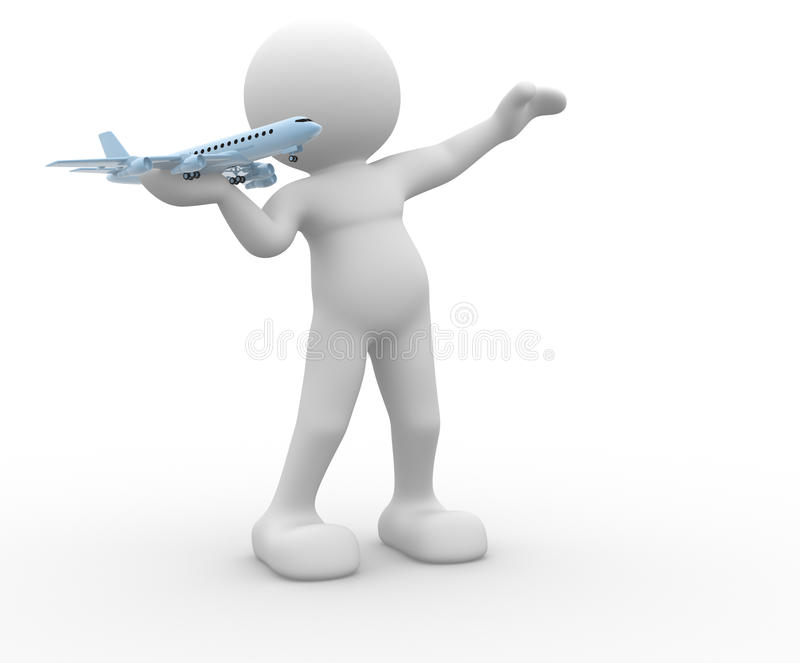 Download Aierplane stock illustration. Image of idea, flight, transportation - 23881467