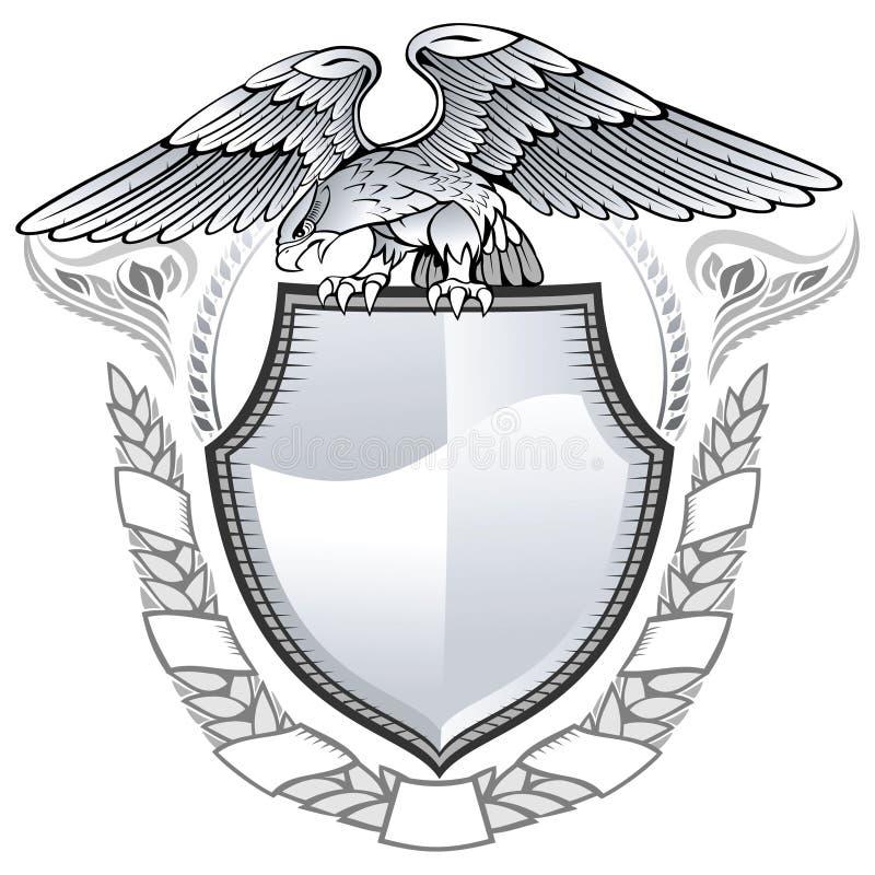Aigle à ailes illustration de vecteur