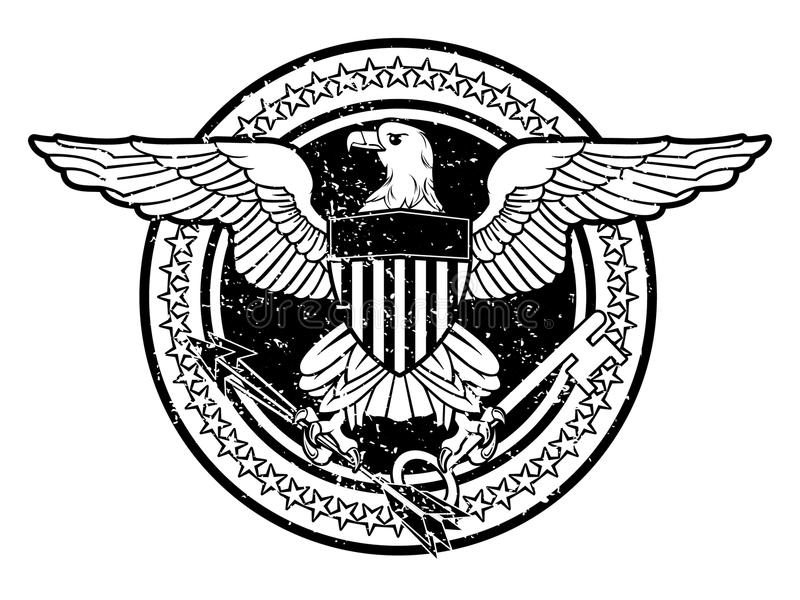 Aigle américain illustration stock