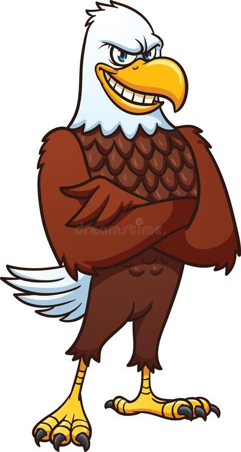 Aigle américain chauve de bande dessinée illustration stock