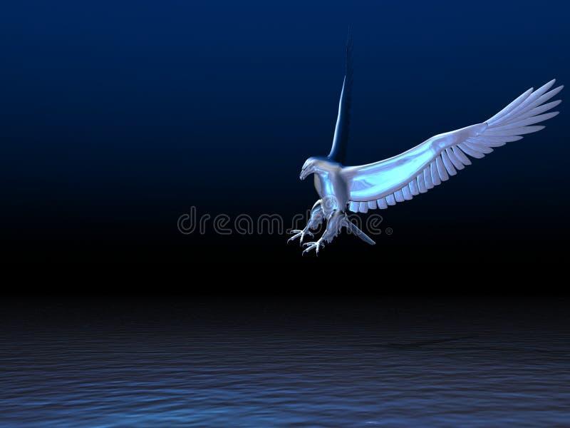 Aigle argenté illustration de vecteur