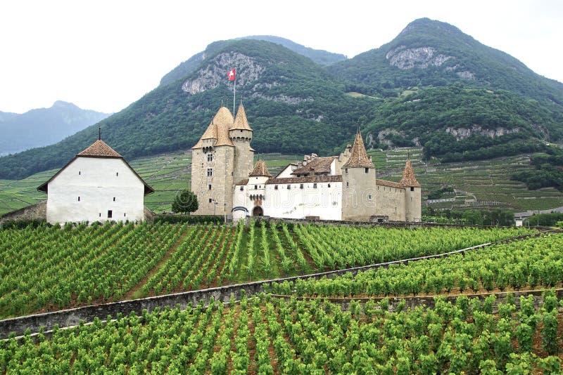 Aigle Castle. Switzerland stock images