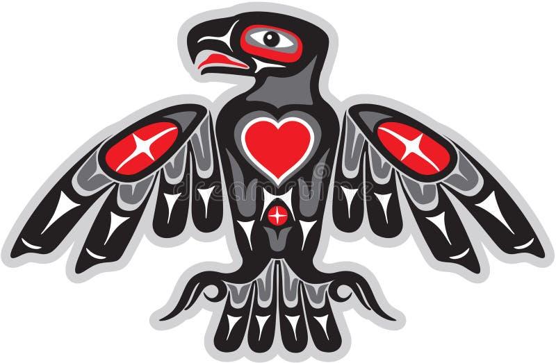 Aigle dans le type indigène américain d'art illustration libre de droits