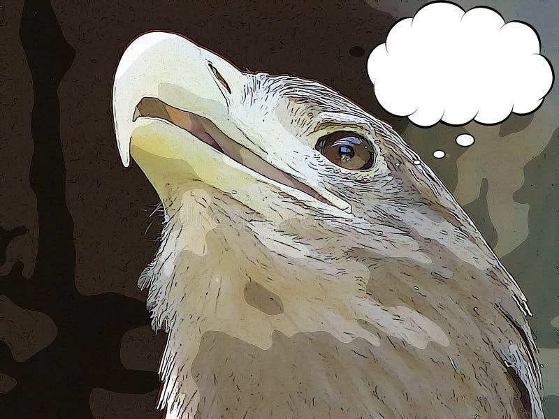 Aigle de bande dessinée illustration stock