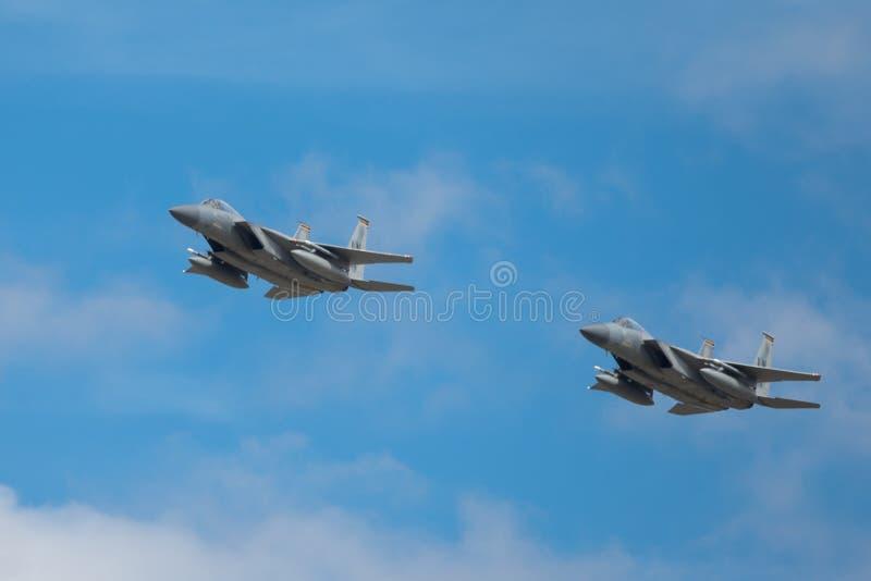 Aigle de grève de Mcdonnell Douglas F-15E photo libre de droits