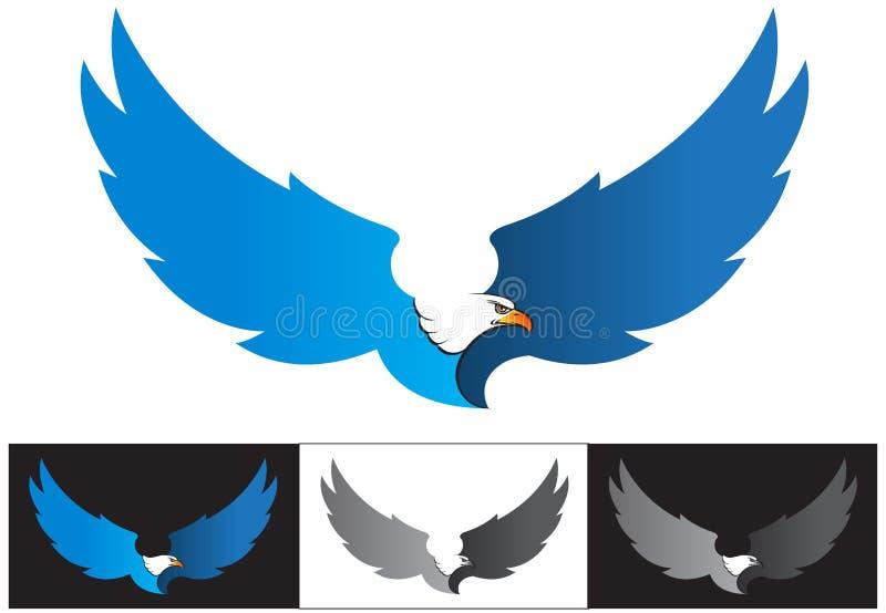 Aigle de mascotte de vecteur ou de vol de logo illustration stock