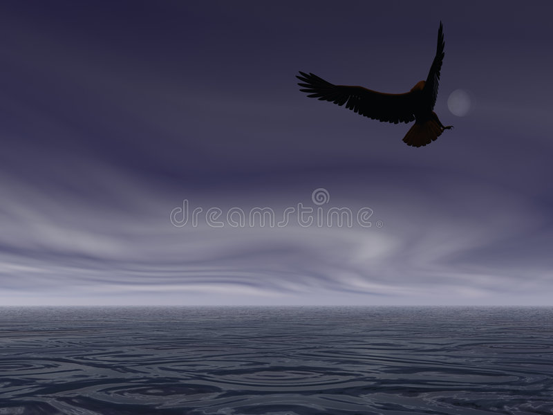 Aigle de nuit illustration stock