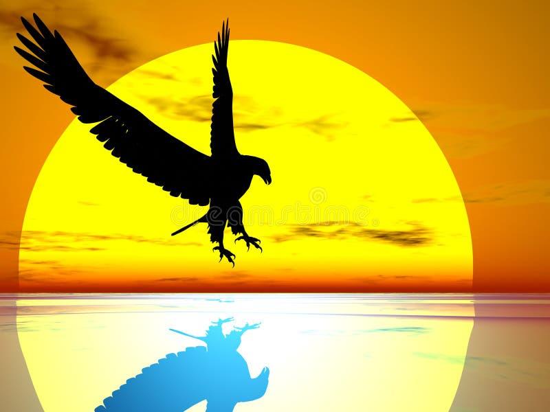 Aigle de The Sun illustration stock